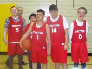Stratford Unified basketball team